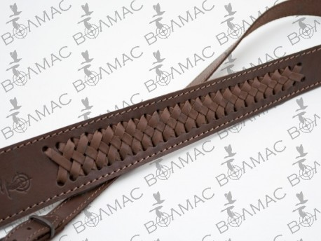 Ремень для ружья трапеция плетеный кожаный