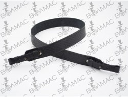 Ремень для ружья прямой тисненый №3 кожаный черный