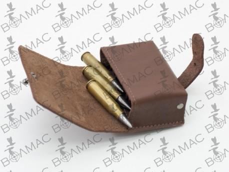 Подсумок на 10 патронов (7,62 нарезные) кожаный