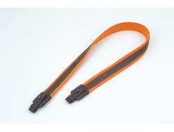 Ремень на ружье брезент оранжевый + кожа Ретро