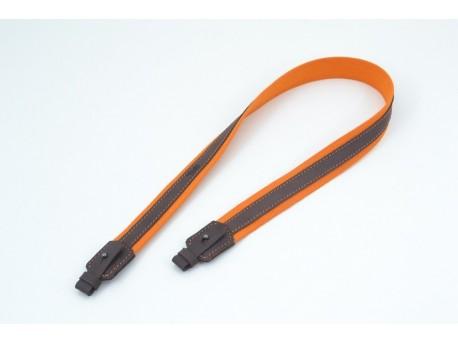 Ремінь на рушницю брезент оранжевий + шкіра Ретро