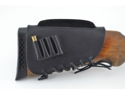 Патронташ на приклад кожа гидрофобная с повишением для нарезных патронов
