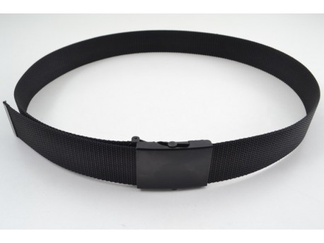 Ремень пояcной с пряжкой автомат чорный 2305/1 (пряжка чорная)