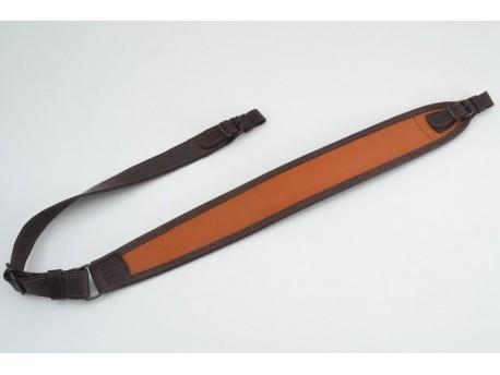 Ремень на ружъё трапецыя кожаный гидрофобный оранжевый(50103/4)