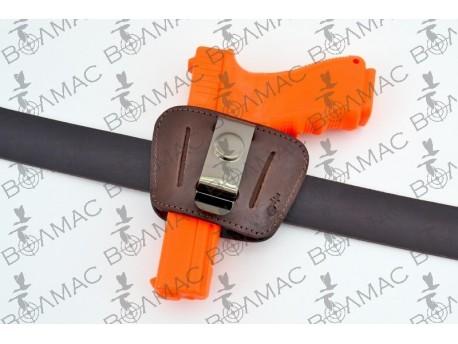Кобура шкіряна поясна прихованого носіння Glock17,19 (коричнева) 5514