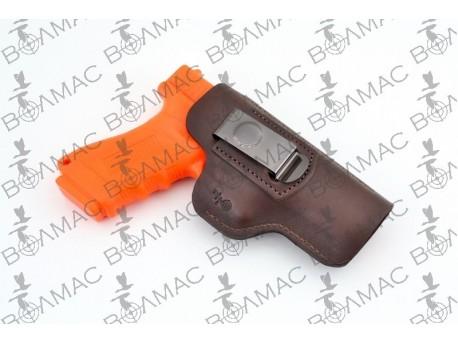 Кобура шкіряна поясна прихованого носіння Форт 19, Glock17 (коричнева) 5512