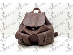 """Рюкзак кожаный """"Ретро"""" коричневый"""